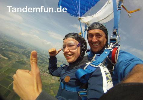 Fallschirmspringen Bayern, Tandemsprung Klattau Klatovy, Fallschirmsprung Tschechien