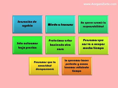 Causas de la procrastinación - www.aorganizarte.com