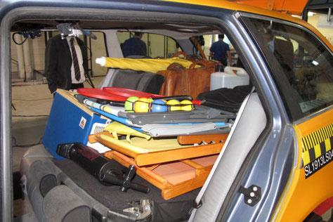 *Quelle: ADAC: Crashtest mit Gegenständen für den Urlaub - hier ohne Ladungssicherung