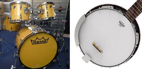 REMO ドラム バンジョー