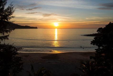 Sonnenuntergang in Phuket, 11.01.2015