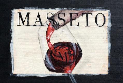 Weinkistendeckel Masseto