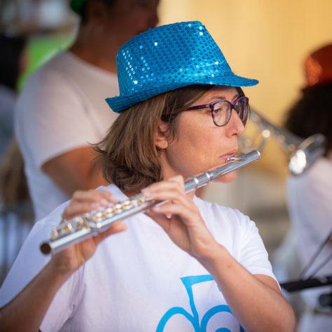 Ecole de musique EMC à Crolles – Grésivaudan : Pratique collective de flûte traversière en orchestre.