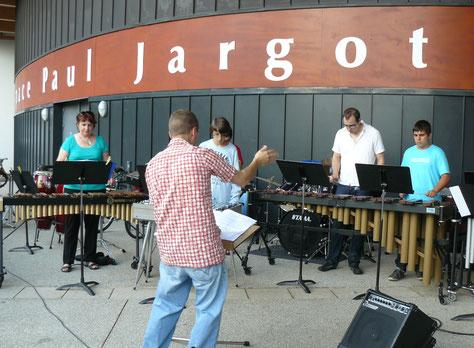 Ecole de musique EMC à Crolles - Grésivaudan : le bâtiment de l'Espace Paul Jargot vue extérieure