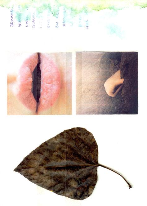 apollo-artemis, mode, design, nachhaltig, handgemacht, kunstwerk, kollage, fotos, blatt, stimmung
