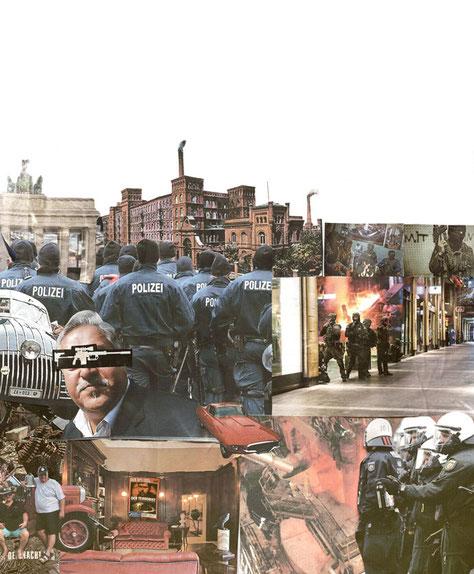 apollo-artemis, mode, design, nachhaltig, handgemacht, collage, kunstwerk, polizei, gesellschaft
