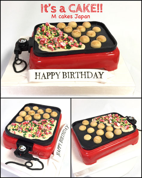 "mcakesjapan""TAKOYAKI PARTY"" CAKE! It's all handmade and all edible Homemade Fondant cake!たこ焼きパーティー🎉たこ焼き機ケーキ🎂 #takoyaki #takoyakiparty #japanesefood #takoyakicake #Takoyakimachine #birthdaycake #Takoyakimachinecake #たこ焼き機ケーキ #たこ焼き #たこ焼きパーティー #タコパ #たこ焼き好き #"