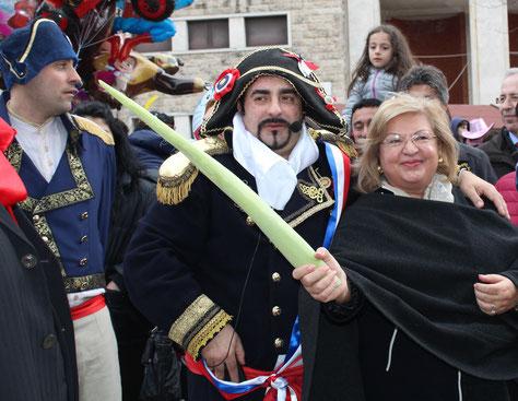 Il generale insieme al Prefetto di Frosinone Emilia Zarrilli