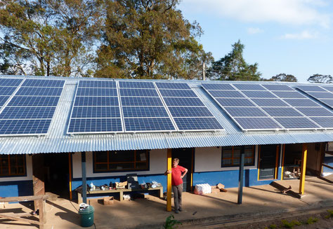 Independent solar energy supply for a hospital in Tanzania
