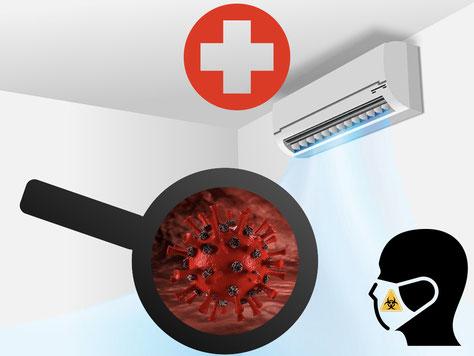 climatisation santé virus bactérie masque