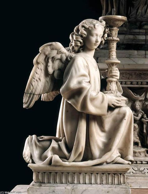 Risultati immagini per angeli reggicandelabro