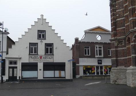 Markt 20 Oosterhout, rijksmonument zeventiende eeuw, Hollandse renaissance trapgevel, bouwhistorie