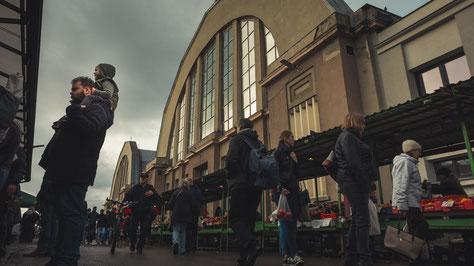 Fünf Markthallen bestückt mit Köstlichkeiten.