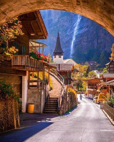 Lauterbrunnen, village of waterfalls