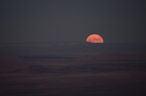 Vollmond über dem Grand Canyon 7. November 2014
