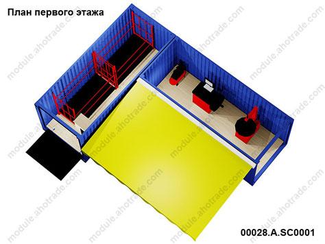 Модульное здание шиномонтажа 28 м2