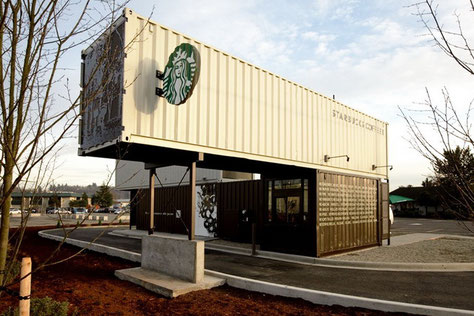 Starbucks drive thru container