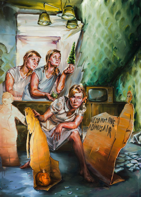 we do not have a dinasour, 210 x 150 cm, oil on linen, 2012