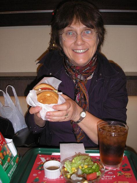 Je crois que je n'ai jamais mangé un hamburger aussi bon de ma vie !  ^_~