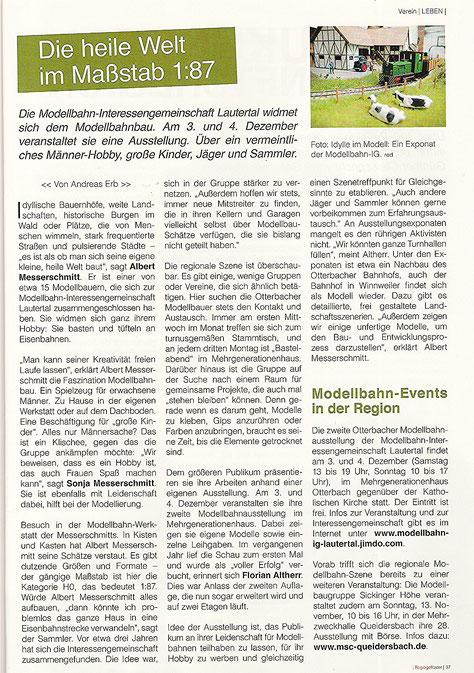 """Quelle: """"regiogeflüster"""" Nr. 54 November 2016"""