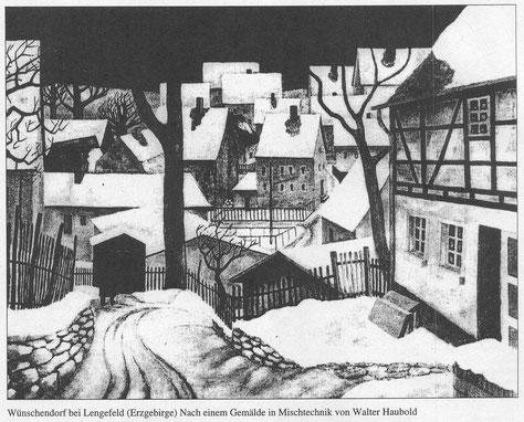 Bild: Teichler Wünschendorf Erzgebirge Wittig Gemälde vonWalter Haubolt