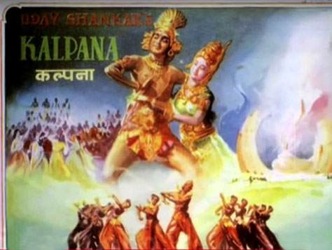 "1948 film poster for ""Kalpana"""