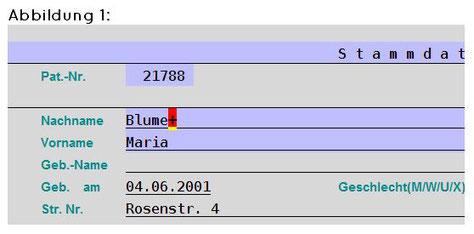 abasoft EVA Praxissoftware Arztsoftware Shortcut Stammdaten