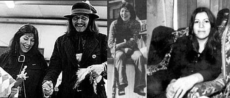 In Memoriam Anna Mae Aquash - Traditionelle Heirat von Anna Mae Pictou und Nogeeshik Aquash 1973 bei der Besetzung von Wounded Knee - Anna Mae als Kiegerin in Wounded Knee - Ann Mae kurz vor ihrem Tod.