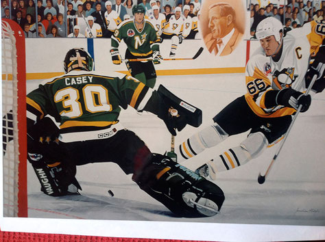 Mario Lemieux - In memory of Bob Johnson, Stanley Cup 1993 by Joachim Thiess