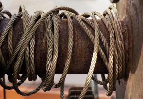 Stahlseil, Winde, Schiff, Detail