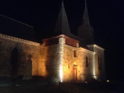 façade sud de nuit