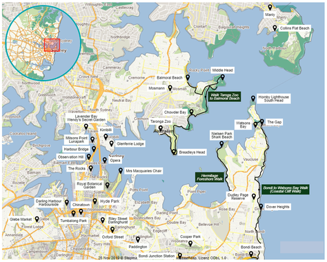 Australien, Australia, Reisebericht Australien, Reisebericht NSW, Reisebericht Sydney, Sydney Map, Sydney Karte, Watsons Bay, Federation Cliff Walk
