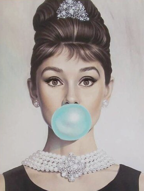Audrey Hepburn in the Breakfast at Tiffany's