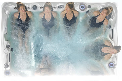 Hot tube circuit therapy avec jacuzzi spa Cantabria