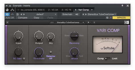 Simulation of a Tube Compressor by Native Instruments & Softube