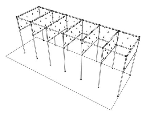 Гардероб из металлической трубы, соединителей UNO, JOKER  и панелей из ДСП