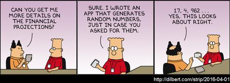 Dilbert - Zufallszahlen