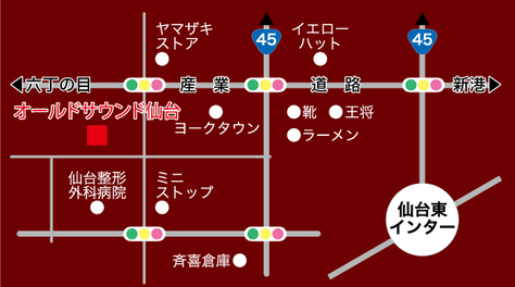オールドサウンド仙台地図
