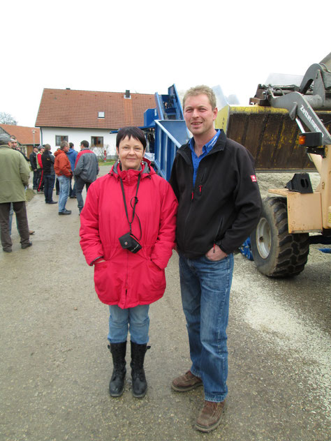Fr. Dr. Potthast von der Firma Südzucker AG mit dem Chef Christian Deinhard.