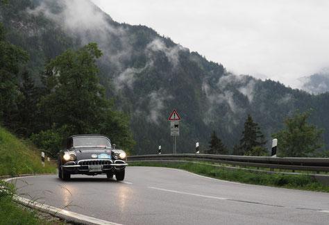 Kurvige Panoramastraße im Allgäu