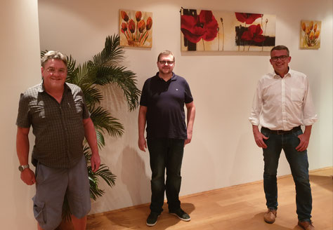 v.l.n.r. Wolfgang Curth, Andreas Thon, Axel Schmidt