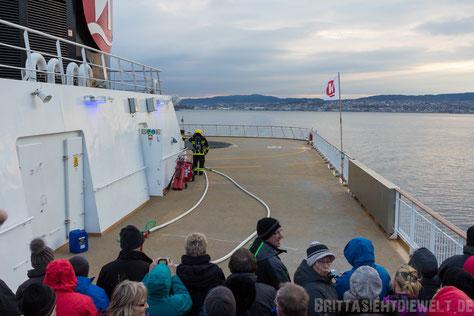 Hubschrauber,Landung,Übung,Hurtigruten,Norwegen,ms,Midnatsol, Postschiff,Winter,November,Tipps,2014