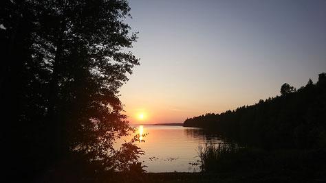 Sonnenuntergang in Marieudd (Foto: CF)