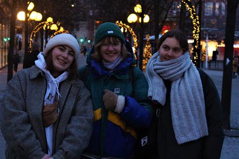 Antonia, Claire und Greta