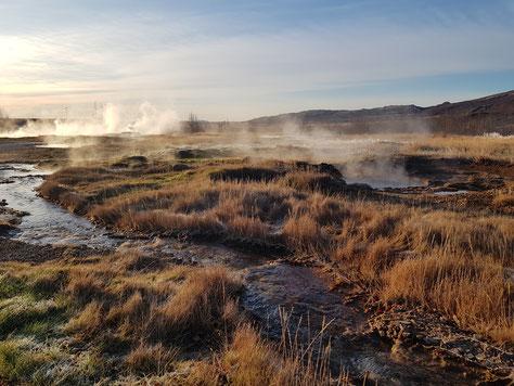 Heiße Quellen in der Natur