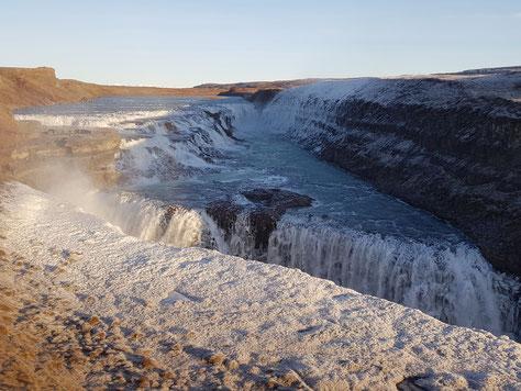 Der Wasserfall Gullfoss
