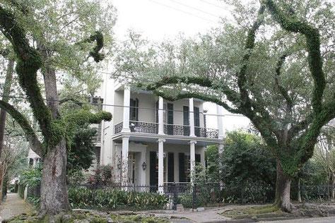 La casa protagonista de la saga, en el Garden District, en Nueva Orleans.