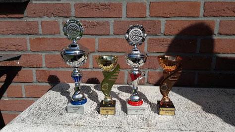 Siegerpokale der Stadtmeisterschaften