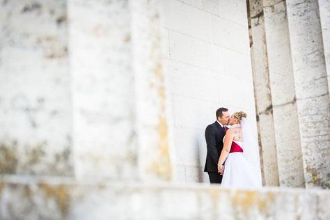 Hochzeitsfotograf aus Wittenberge. Heiraten bei Regensburg an der Donau auf der Walhalla.