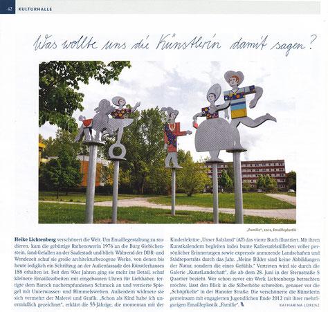 emaille, emaillieren, baubezogene kunst, in Halle Saale